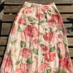 Dress Barn, Floral Midi-skirt, size M